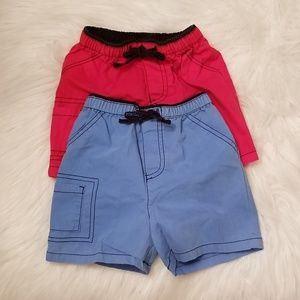 Baby Boy(12mos)Set Of 2 Shorts:(1)Red & (1)Blue